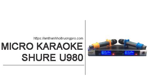 Micro không dây Shure U980