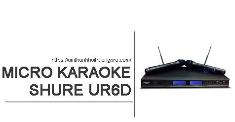 Micro không dây Shure UR6D